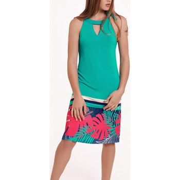 textil Mujer Vestidos Lisca Vestido verano sin mangas Tahiti Verde Oscuro