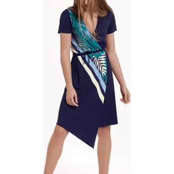 textil Mujer Vestidos Lisca Vestido de verano asimétrico manga corta Tahiti Azul