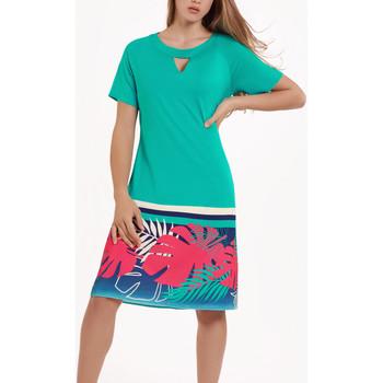 textil Mujer Vestidos Lisca Vestido de verano manga corta Tahiti Verde Oscuro