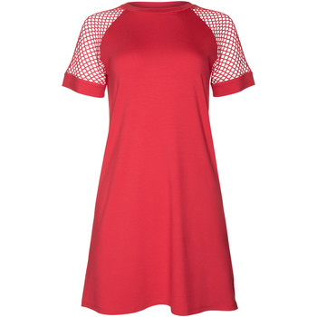 textil Mujer Vestidos cortos Lisca Vestido playa manga corta Ibiza Encaje Blanco