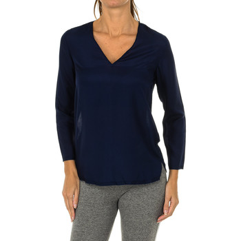 textil Mujer Tops / Blusas Armani jeans Blusa manga larga Azul