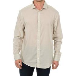 textil Hombre Camisas manga larga Armani jeans Camisa de manga larga Beige