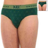 Ropa interior Hombre Calzoncillos Kisses And Love Pack-2 Slips Kisses & Love Verde