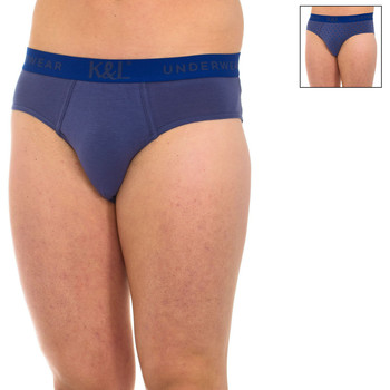 Ropa interior Hombre Calzoncillos Kisses And Love Pack-2 Slips Kisses & Love Azul