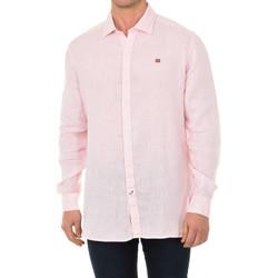 textil Hombre Camisas manga larga Napapijri Camisa manga larga Rosa