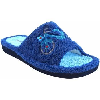 Zapatos Mujer Pantuflas Berevere Ir por casa señora  v 1006 azul Gris