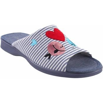 Zapatos Mujer Pantuflas Garzon Ir por casa señora  2543.161 azul Rojo