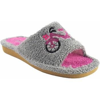 Zapatos Mujer Zuecos (Mules) Berevere Ir por casa señora  v 1006 gris Gris