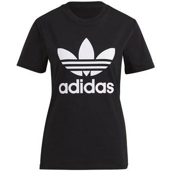 textil Mujer Camisetas manga corta adidas Originals Trefoil Tee Blanco, Negros