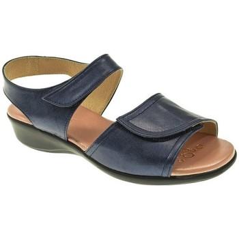 Zapatos Mujer Sandalias Duendy SANDALIA PLANA  MARINO Azul