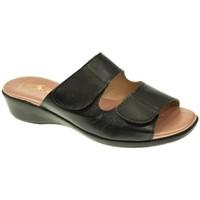 Zapatos Mujer Zuecos (Mules) Duendy SANDALIA PLANA  NEGRO Negro