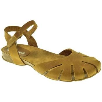 Zapatos Mujer Sandalias Duendy SANDALIA PLANA  AMARILLO Amarillo