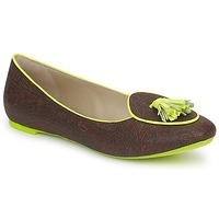 Zapatos Mujer Bailarinas-manoletinas Etro BALLERINE 3738 Marrón / Limón