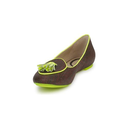 Zapatos manoletinas Mujer Etro Ballerine 3738 MarrónLimón Bailarinas b76gyf