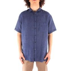 textil Hombre Camisas manga corta Trussardi 52C00213 1T002248 AZUL MARINO