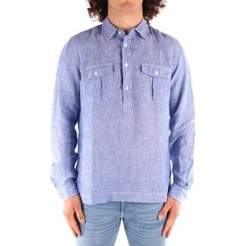 textil Hombre Camisas manga larga Blauer 21SBLUS01216 AZUL