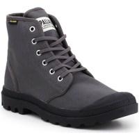 Zapatos Hombre Zapatillas altas Palladium Manufacture Pampa HI Originale Negros, Grises