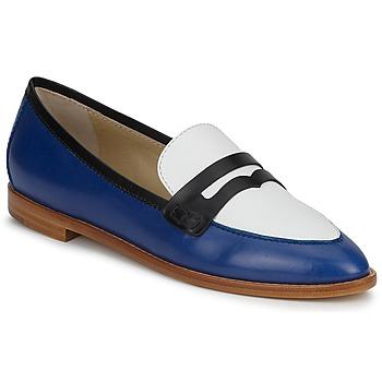 Zapatos Mujer Mocasín Etro MOCASSIN 3767 Azul / Negro / Blanco