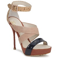Zapatos Mujer Sandalias John Galliano AN6363 Rosa / Marino / Beige