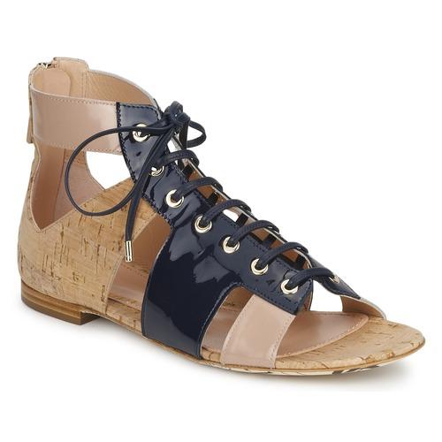 Venta de liquidación de temporada Zapatos especiales John Galliano AN6379 Azul / Beige / Rosa