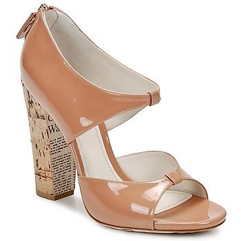 Zapatos Mujer Sandalias John Galliano AN6364 Rosa / Beige