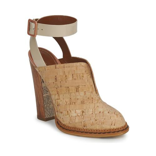 Zapatos especiales para hombres y mujeres John Galliano AN9211 Beige - Envío gratis Nueva promoción - Zapatos Zuecos (Clogs) Mujer