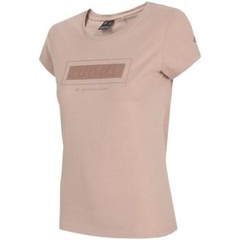 textil Mujer Camisetas manga corta 4F TSD034 Rosa