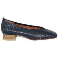 Zapatos Mujer Zapatos de tacón Lolas ZAPATO SALON CON PUNTA CUADRADA PIEL TRENZADA Azul