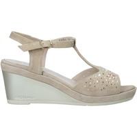 Zapatos Mujer Sandalias Melluso HR70511 Beige