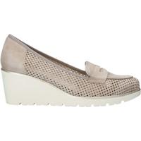 Zapatos Mujer Slip on Melluso HR20509 Beige