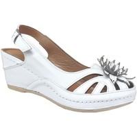 Zapatos Mujer Sandalias Karyoka Fleur Cuero blanco