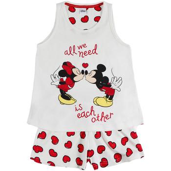textil Niña Pijama Admas Chica pijama camiseta corta Love Mouse Disney marfil Amarillo