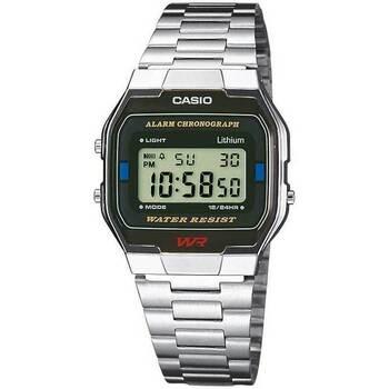 Relojes & Joyas Hombre Relojes digitales Casio A163WA-1QES, Quartz, 33mm, 3ATM Plata