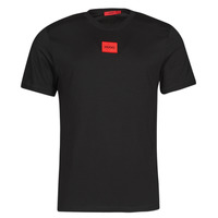 textil Hombre Camisetas manga corta HUGO DIRAGOLINO Negro / Rojo