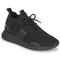 Zapatos Hombre Zapatillas bajas BOSS TITANIUM RUNN KNST1 Negro