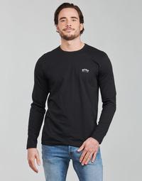 textil Hombre Camisetas manga larga BOSS TOGN CURVED Negro
