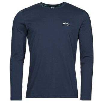textil Hombre Camisetas manga larga BOSS TOGN CURVED Marino