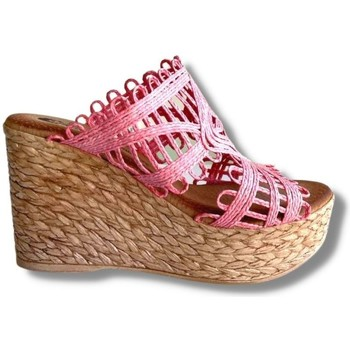 Zapatos Mujer Sandalias Oh!! Isabella Cuña Clavel Rosa 13