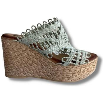 Zapatos Mujer Sandalias Oh!! Isabella Cuña Clavel Verde Menta 25