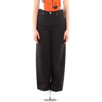 textil Mujer Pantalones fluidos Roy Rogers P21RND091P3211755 NEGRO