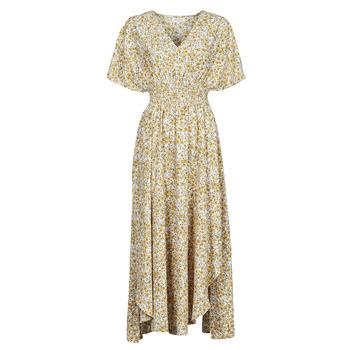 textil Mujer Vestidos largos Betty London ONINA Amarillo / Blanco