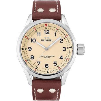 Relojes & Joyas Hombre Relojes analógicos Tw-Steel SVS101, Quartz, 45mm, 10ATM Plata