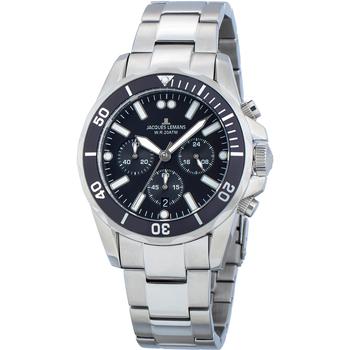 Relojes & Joyas Hombre Relojes analógicos Jacques Lemans 1-2091F, Quartz, 44mm, 20ATM Plata