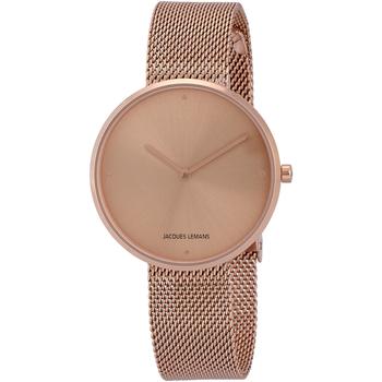 Relojes & Joyas Mujer Relojes analógicos Jacques Lemans 1-2056N, Quartz, 36mm, 5ATM Oro