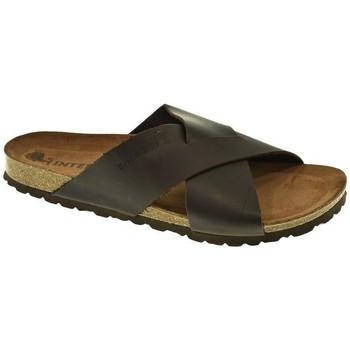 Zapatos Hombre Zuecos (Mules) Interbios SANDALIA HOMBRE  CHOCOLATE Marrón