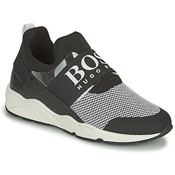 Zapatos Niño Zapatillas bajas BOSS NATINA Negro / Blanco