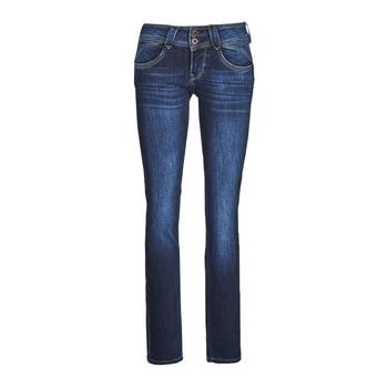textil Mujer Vaqueros rectos Pepe jeans NEW GEN Azul / Oscuro / Dh3