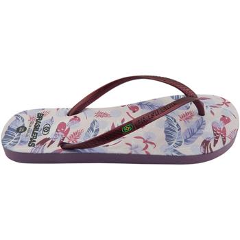 Zapatos Mujer Chanclas Brasileras Chanclas de playas ®,Printed 21  Eden Garnet