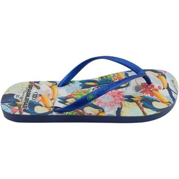 Zapatos Mujer Chanclas Brasileras Chanclas de playas ®,Printed 21  Toucan Blue