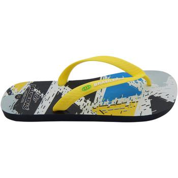Zapatos Hombre Chanclas Brasileras Chanclas de playas ®,Printed 21  Stroke Yellow